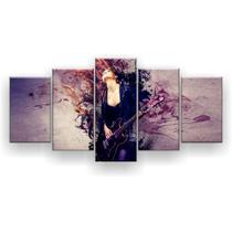 Kit Placa Decorativa Mosaico 5 Pçs Rock'n Roll - Império Dos Quadros