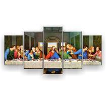 Kit Placa Decorativa Mosaico 5 Pçs Última Santa Ceia - Império Dos Quadros