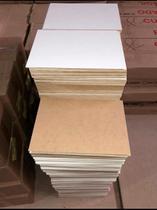 Kit Placas Chapas 10 Unidades Mdf 3mm A4 21x29,7 Branco/ Cru, Não Acompanha resina - Lar Decorado