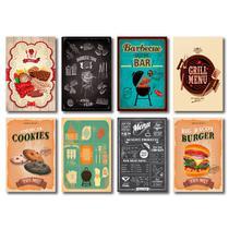 Kit Placas Decorativas Churrasco Cozinha Bar Mdf - 8 Placas - Art Print