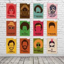 Kit Placas Decorativas Coleção Completa ARTISTAS FAMOSOS KPD-003 - Pvc 3Mm