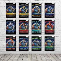 Kit Placas Decorativas Coleção Completa Futebol Americano KPD-001 - Pvc 3Mm