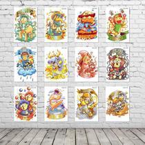 Kit Placas Decorativas Coleção Completa SIGNOS ZODÍACO Infantil KPD-002 - Pvc 3Mm