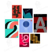 Kit placas decorativas formas minimalista 7 un quadro mdf - Shark Comunicação Visual