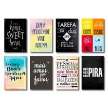 Kit Placas Decorativas Frases Mdf - 8 Placas - Art Print