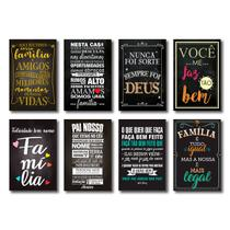 Kit Placas Decorativas Frases Motivacionais Mdf- 8 Placas - Art Print