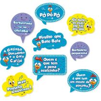 Kit Placas Decorativas Galinha Pintadinha 09 unidades Festcolor - Festabox