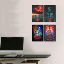 Kit Placas Decorativos Serie Stranger Things - Arte Quadro