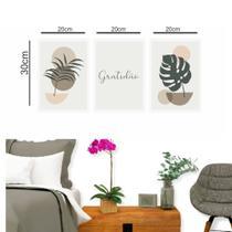 Kit Placas Quadros Decorativos 3 Peças 20x30cm  Gratidão - Gráfica Sublime