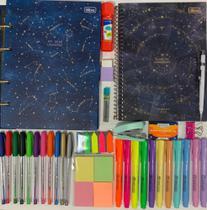Kit planner + fichário colegial pequeno magic e acessórios TILIBRA -