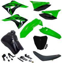 Kit Plástico Adaptável Crf 230 Xr 200 250 Tornado Bros Aletas Biker Number Avtec - Biker/Avtec/X-Cell