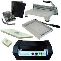 Kit plastificadora oficio/encadernadora/guilhotina e material - Goldmaq/Excentrix