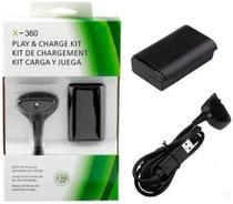 Kit Play e Charge Bateria para Controle XBOX 360 com Cabo - Mcmc