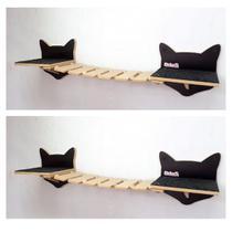 Kit Play Gatos Prateleiras Step Face Cat Ponte Cj 6 Pcs - Nekocat