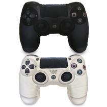Kit Play Pillowstation: Almofadas Gamer Inspiradas no Controle de Video Game PS4 PB - Camaleão preto