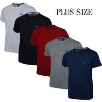 Kit Plus Size Camiseta Masculina em Malha Pontilhada e Cavalo em Metal - Polo Rg518