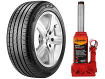 "Kit Pneu Aro 17"" Pirelli 215/50R17 91V - Cinturato P7 + Macaco Hidráulico 2 Toneladas"