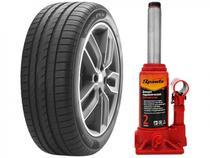 """Kit Pneu Aro 17"""" Pirelli 215/50R17 95W - Cinturato P1 Plus + Macaco Hidráulico 2 Toneladas"""