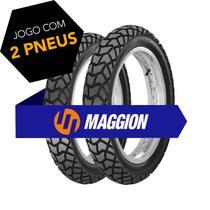 Kit pneu bros 110/90-17 + 90/90-19 viper maggion -