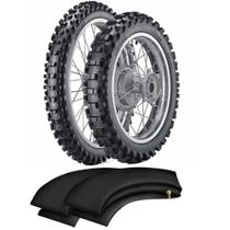 Kit Pneu Crf230 80/100-21 + 100/100-18 Cr300 Vipal Trilha Cross