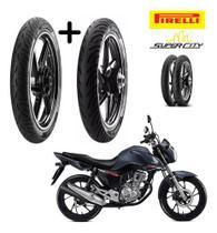Kit Pneu Honda Cg 160 Fan Dianteiro E Traseiro Pirelli S/cam -