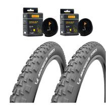 Kit Pneu Michelin 2.25 Force + 2x Câmaras Pirelli 29 -