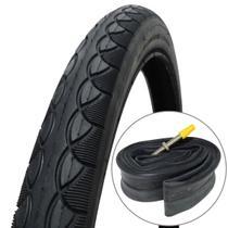 Kit Pneu Pirelli Touring 700x45 Compatível Aro 29 Arame Preto + Câmara Pirelli 700x28/45 Válvula Presta 60mm -