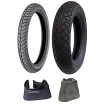 Kit Pneus 3.00-18 Michelin + 140/90-15 Metzeler + Câmaras -