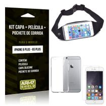 Kit Pochete Apple iPhone 6 Plus/6S Plus Pochete + Capa + Película de Vidro - Armyshield