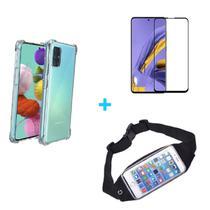 Kit Pochete Galaxy A51 + Capinha Anti Impacto + Película de Vidro - Samsung