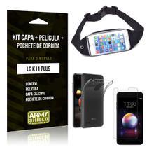 Kit Pochete LG K11 Plus Pochete + Capa + Película de Vidro - Armyshield -