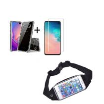 Kit Pochete Samsung Galaxy S10e + Capinha Anti Impacto + Película de Vidro -