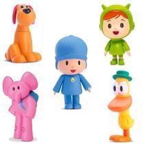 Kit pocoyo vinil pocoyo - loula - nina - elly - pato - cardoso toys -
