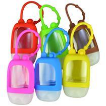 Kit Porta Alcool em Gel Portátil 30ml 6 peças Colorido CBRN14804 - Commerce Brasil
