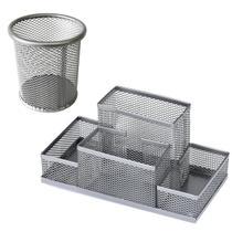 Kit Porta Lápis + porta Treco Organizador Escritório aramado Clipe metal - Luthi