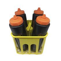 Kit Porta Squeeze 4x4 Amarela com 4 Squeeze c/ logo preto laranja Rythmoon -