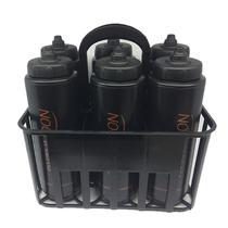 Kit Porta Squeeze Preta com 6 Squeeze c/ logo preta preta Rythmoon -