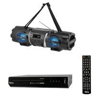 Kit Portátil Philco - DVD Player  PH136 + Som Portátil  PB500BT - Bivolt -