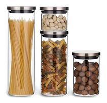 Kit Potes De Vidro Herméticos Tampa Inox 4 Unid. Electrolux - Eletrolux