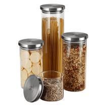 Kit Potes de Vidro Porta Mantimentos Herméticos Electrolux - 4 Unidades -