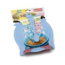 Kit prato infantil tartaruga c/2 colheres pratos - Giotto