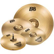 Kit Pratos Profissional Sabian Liga B8 Sonoridade Brilhante -