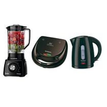 Kit Premium Sanduicheira + Chaleira Elétrica + Liquidificador 110v - Mondial