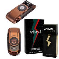 Kit Presente Barbeador Elétrico Q788 com Perfume Animale 100ml For men - Kemei