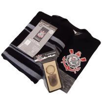 Kit Presente Corinthians Oficial- Camisa Mescla / Toalha / Chaveiro -