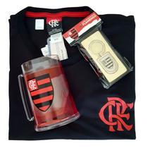 Kit Presente Flamengo - Camisa Cling / Caneca / Chaveiro Oficial -