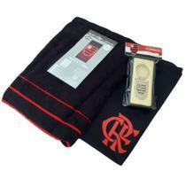 Kit Presente Flamengo - Camisa Cling / Toalha De Banho / Chaveiro Oficial -