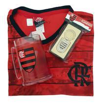 Kit Presente Flamengo - Camisa Scrull / Caneca / Chaveiro Oficial -