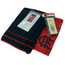 Kit Presente Flamengo - Camisa Scrull / Toalha De Banho / Chaveiro Oficial -
