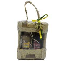 Kit Presente Licor Marula e Morango Passione 50 ml na Cesta de Palha Miniatura -